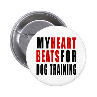 HEART BEATS FOR DOG TRAINING 2 INCH ROUND BUTTON