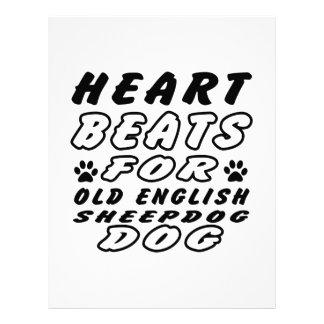 Heart Beats For Old English Sheepdog Letterhead