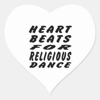 Heart Beats For Religious Dance Heart Sticker