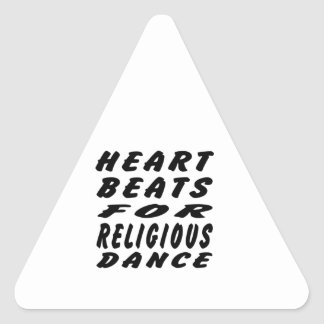 Heart Beats For Religious Dance Stickers