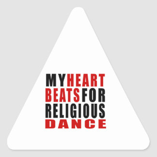 HEART BEATS FOR RELIGIOUS TRIANGLE STICKER