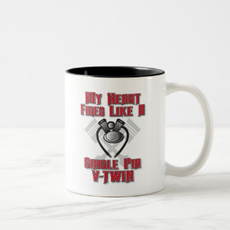 Heart Beats Like A V-Twin Engine Mug