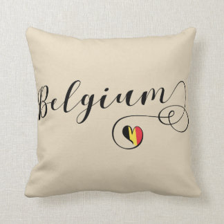 Heart Belgium Pillow, Belgian Flag Throw Pillow