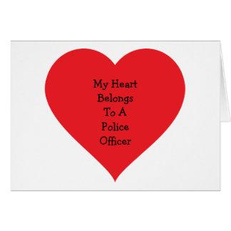 Heart Belongs 2 Cop (customizable) Card
