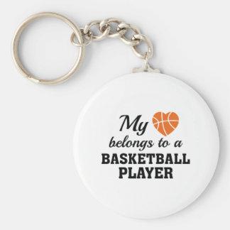 Heart Belongs Basketball Keychain