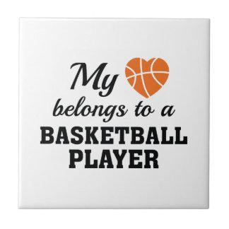 Heart Belongs Basketball Tile