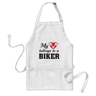 Heart Belongs Biker Standard Apron