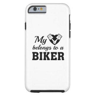 Heart Belongs Biker Tough iPhone 6 Case