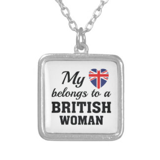 Heart Belongs British Silver Plated Necklace