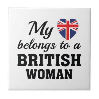 Heart Belongs British Tile