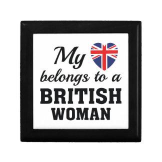 Heart Belongs British Trinket Box