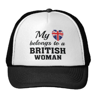 Heart Belongs British Trucker Hat