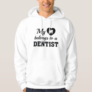 Heart Belongs Dentist Hoodie