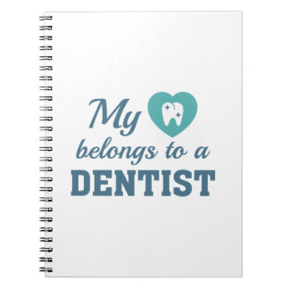 Heart Belongs Dentist Notebook