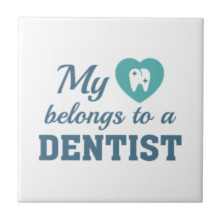 Heart Belongs Dentist Tile