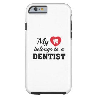 Heart Belongs Dentist Tough iPhone 6 Case