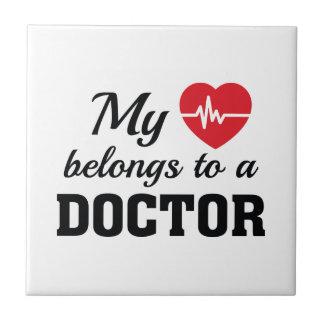 Heart Belongs Doctor Tile