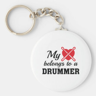 Heart Belongs Drummer Keychain