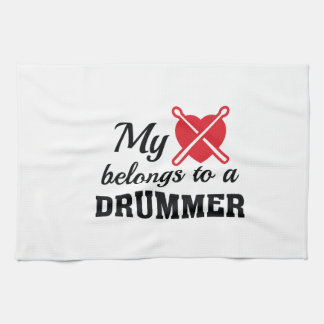 Heart Belongs Drummer Kitchen Towel
