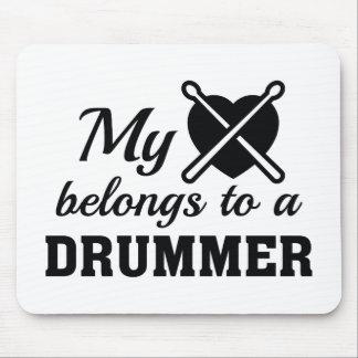 Heart Belongs Drummer Mouse Pad