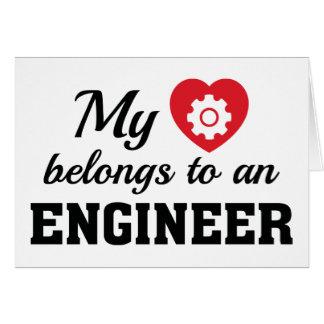 Heart Belongs Engineer Card