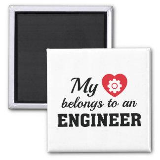 Heart Belongs Engineer Magnet
