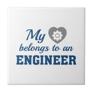 Heart Belongs Engineer Tile