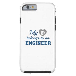 Heart Belongs Engineer Tough iPhone 6 Case