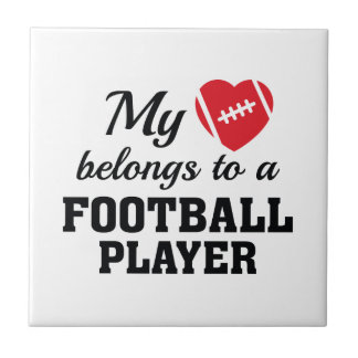 Heart Belongs Football Tile