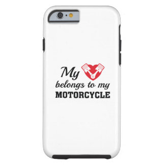 Heart Belongs Motorcycle Tough iPhone 6 Case