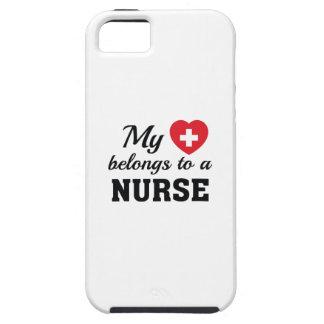 Heart Belongs Nurse iPhone 5 Cover