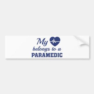 Heart Belongs Paramedic Bumper Sticker