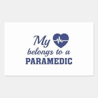 Heart Belongs Paramedic Sticker