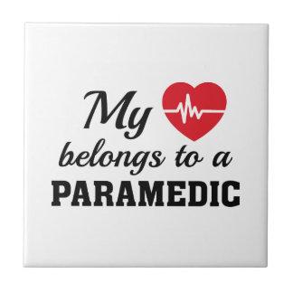 Heart Belongs Paramedic Tile
