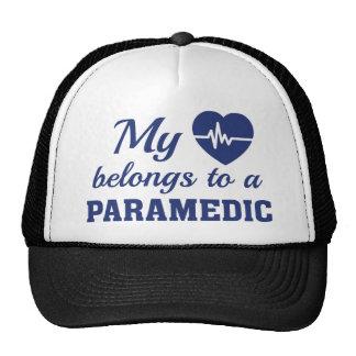 Heart Belongs Paramedic Trucker Hat