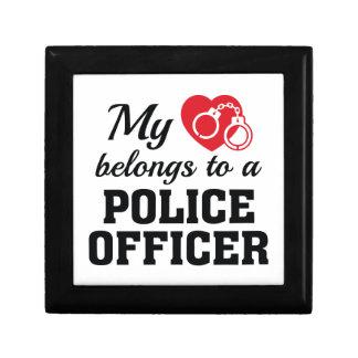 Heart Belongs Police Officer Gift Box