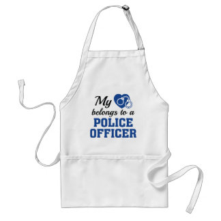 Heart Belongs Police Officer Standard Apron
