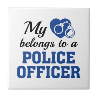 Heart Belongs Police Officer Tiles