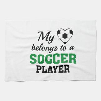 Heart Belongs Soccer Kitchen Towel