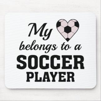 Heart Belongs Soccer Mouse Pad