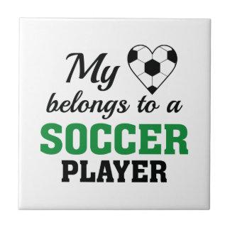 Heart Belongs Soccer Tile