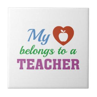 Heart Belongs Teacher Tiles