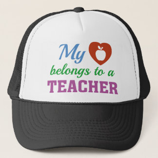 Heart Belongs Teacher Trucker Hat