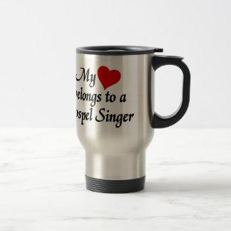 Heart belongs to a gospel singer stainless steel travel mug