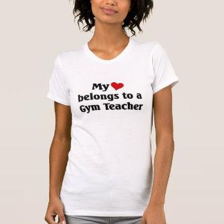 Heart belongs to a gym teacher shirts
