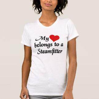 Heart belongs to a steamfitter tee shirt