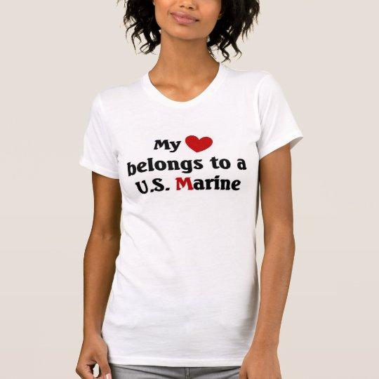 heart belongs to a us marine T-Shirt