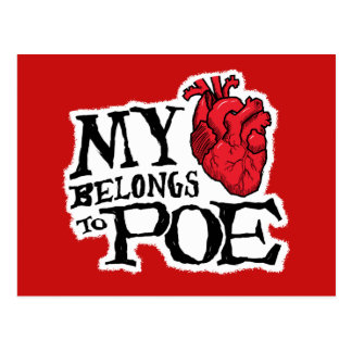 Heart Belongs to Poe Postcard