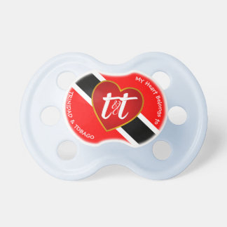 Heart Belongs to Trinidad & Tobago (or your text) Pacifier