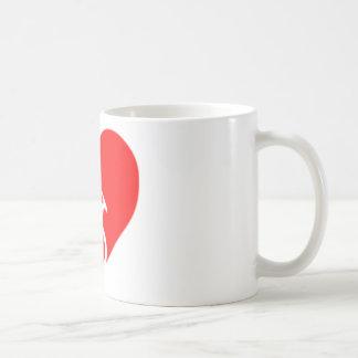 heart bicycle cutout coffee mug